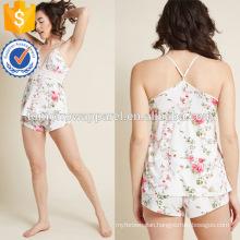 Multicolored Printed Lace V-Neck Spaghetti Strap Pajamas Manufacture Wholesale Fashion Women Apparel (TA0001P)