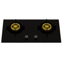 Газовая плита с двумя латунными духовыми шкафами (стекло 8 мм)