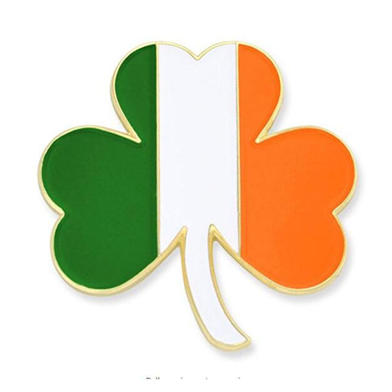 Shamrock Enamel Lapel Pin