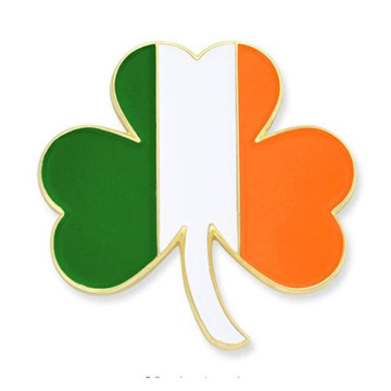 Ireland Bendera Shamrock Enamel Lapel Pin