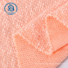 High quality summer jacquard women clothes polyester rayon blend hacci fabric
