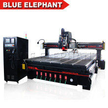 Blue Elephant CNC Router 2040 Auto Tool Changer CNC Oscillating Knife Spindle Sander Tool Blade Roll Paper Cutting Machine