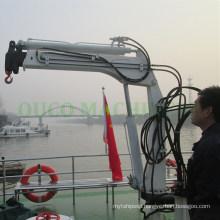 Hydraulic Marine Davit Crane Telescopic Overload Protection