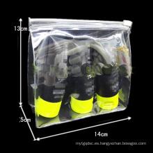 El bolso cosmético simple simple 3sizes de la cremallera del PVC de las ventas al por mayor
