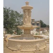 Fonte de água do estágio para a fonte de mármore da pedra do jardim (SY-F178)