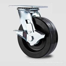 H13 Type de frein latéral à service lourd Roulette à roulement à double roulement à haute résistance
