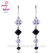 jóias zhefan sgs certificado de noiva lustre longo casamento brincos do candelabro