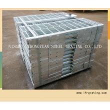 Heißer Verkauf galvanisierte Stahltreppenstufe mit rutschfestem Nosing