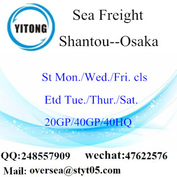 Shantou Port Sea Freight Shipping a Osaka