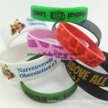 Eco-Friendly Silicon Wristband with Custom Logo for Promotion Gifts