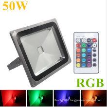 50W IP65 RGB Remote Controller LED Outdoor Floodlight