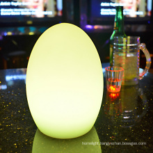 led decorative lamp color changing USB rechargeable egg lights table lamps size