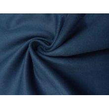 Schöne Oxford / Denim Blue Wollmischung Melton Coating