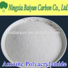 Polvocrilamida aniónica del polvo del polímero del anión Floculante para el tratamiento de aguas