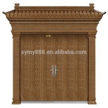 2018 nouvelle conception de la porte avant double feuille en acier inoxydable porte d'entrée de la villa