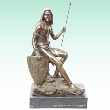 Antique Male Sculpture Soldier Home Deco Brass Statue Tpy-306