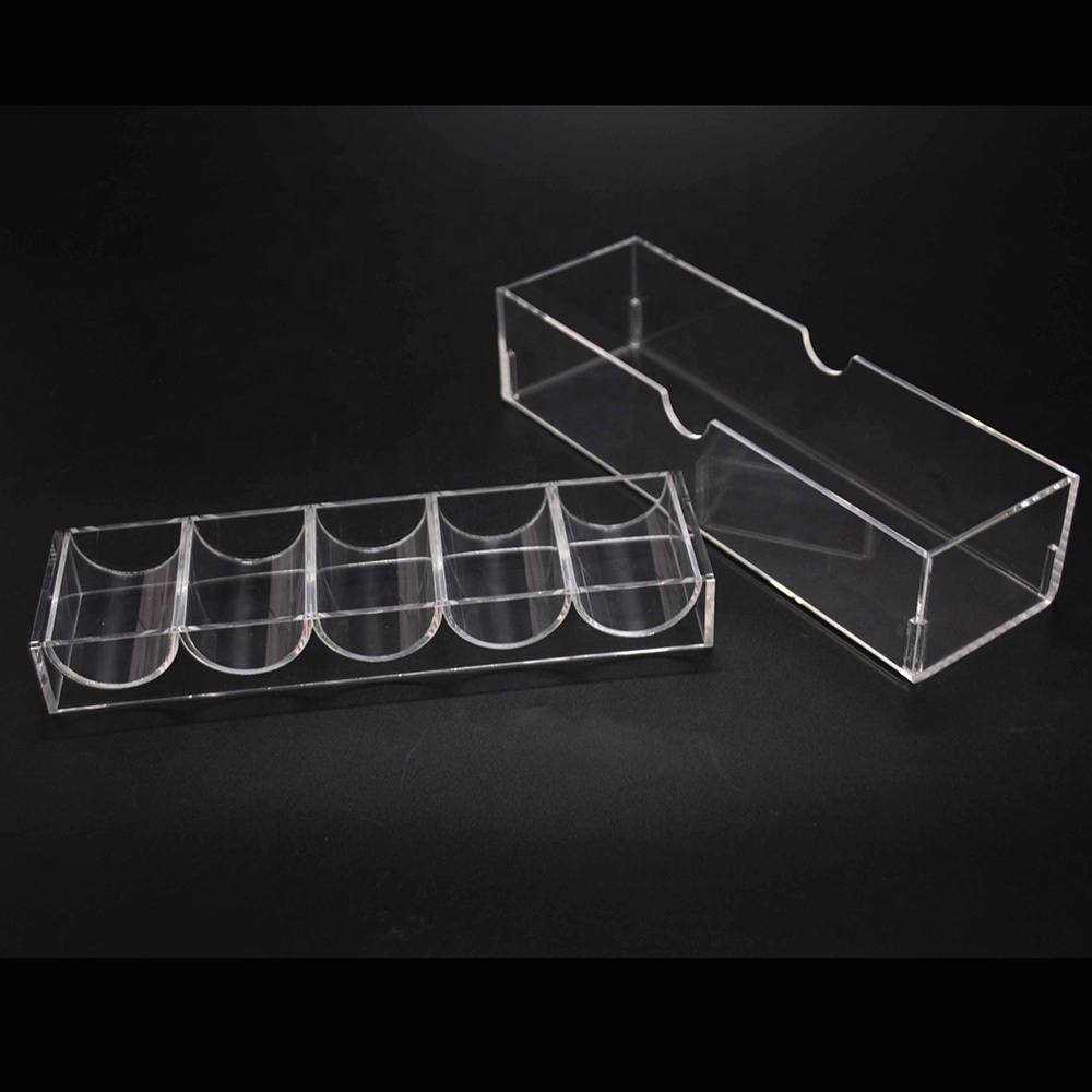 Clear Acrylic Poker Chip Rack And Cover