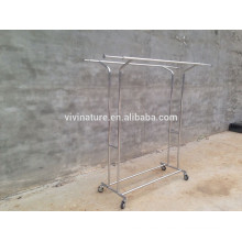 telescopic garment rack and cloths displan racking