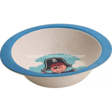 Cute cartoon bamboo fiber bowls