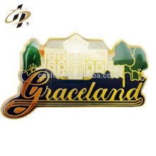 Hot promotion gift print colorful custom logo metal name badge with magnetic pin
