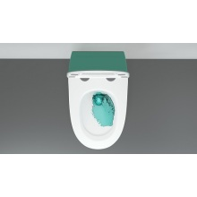 WC sospeso in ceramica P-Trap senza brida