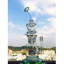 Top Selling Recycling Glas Wasserpfeifen Hbking Hb-K26 12inch Höhe Inline Percolatore High End Hand geblasen Rauchen Pfeifen Enjoylifeworld Lieferant