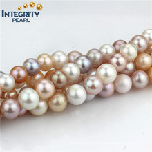 Freshwater Pearl Strand 12-13mm AA Mixed Color Round Pearl Strand