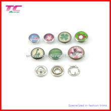 Красочные Перл Кепка Prong Кнопка Snap для кожаный браслет