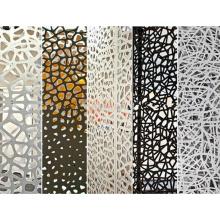 Modern design decorative metal panels laser cut screen stainless steel screen/aluminum wall panel