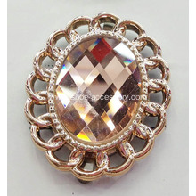 Versatile Metalized Plastic Decorative Clips with Diamond for Shoes, Hats, Handbags, Garments and Leather Work