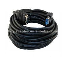 Noir 15 PIN SVGA SUPER VGA Moniteur 2 mâle 15 mètres Câble VGA pour lcd connecteur 15 broches