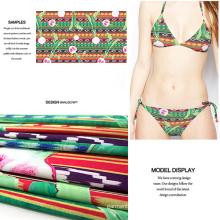 Tribal Printing Knit Fabric for Swimwear, Jersey Dress, Sportwear