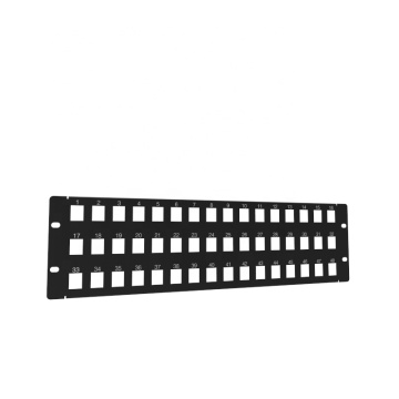 48-Port Keystone Patch Panel für Rack- oder Wandmontage