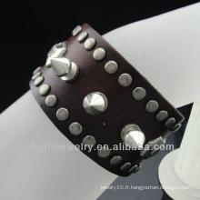 Punk Spike Bracelet Brown Wrap bracelet pour Stars BGL-024
