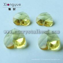 achat coeur forme Perles cristal en ligne