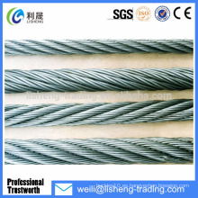 6 * 19 de alta tensión de acero galvanizado cuerda de alambre para la grúa