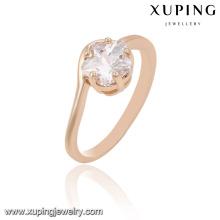 13894 xuping mode bague de doigt or 18 carats anneaux de mariage photos