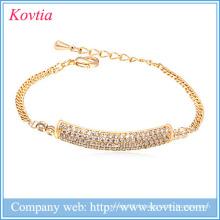 Mode le plus populaire cz bijoux bracelet nouveaux produits 2016 produits innovants filles robes de fête bracelet en or