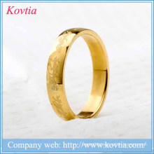 New arrival titanium steel gold plated letter alphabet rings latest wedding ring designs