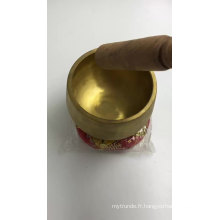 Bols chantants de chakra de méditation en laiton filé