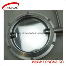 Big Size Sanitary Stainless Steel Welded Butterfly Valve