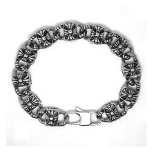 Pulseras de plata del acoplamiento de los hombres del color Accesorio de la moda joyería del acero inoxidable