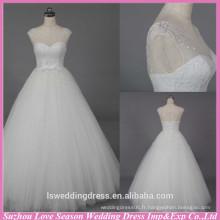 WD6021 Qualité tissu lourd fait à la main exportation qualité cristal strass perles robe de mariage vêtements de mariage