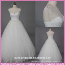 WD6021 Quality fabric heavy handmade export quality crystal rhinestone pearls wedding dress marriage clothing