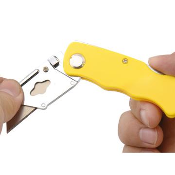 Canivete dobrável retrátil de plástico com logotipo