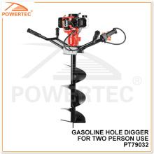 Powertec 2400W 300mm Deux personnes utilisent un cavalier à essence