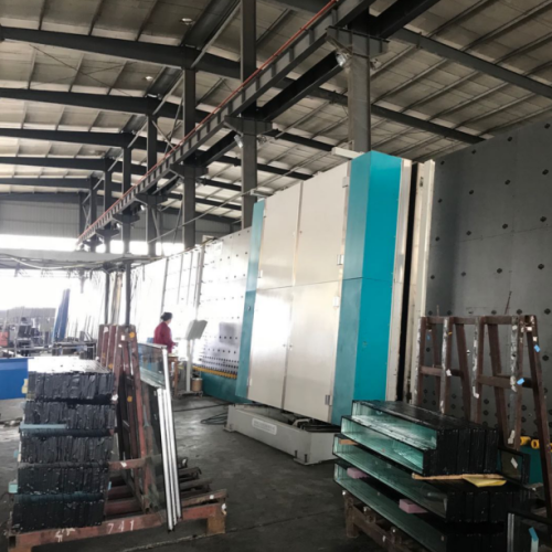 Double glazing glass washing and pressing machine