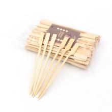 Factory supplying bamboo sticks gun skewers with brand logo