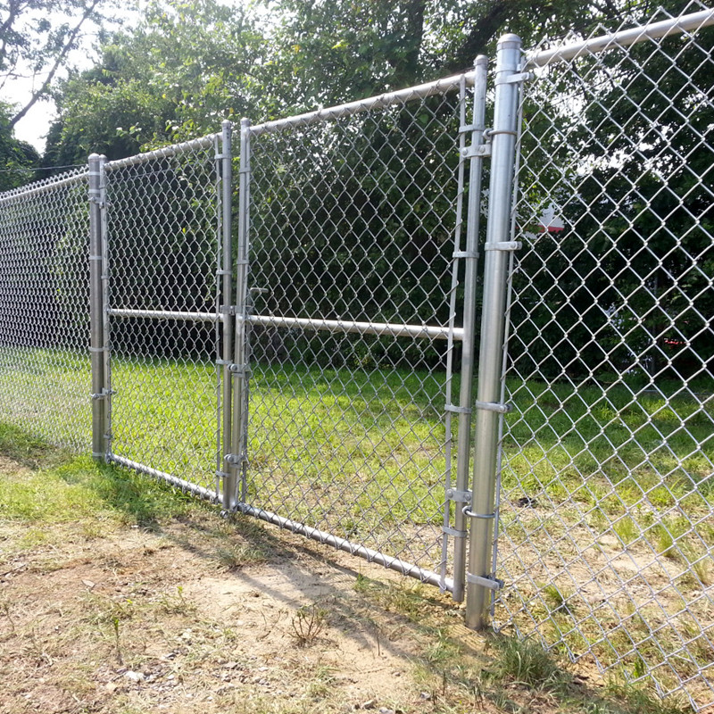 chain link infilled fence gates