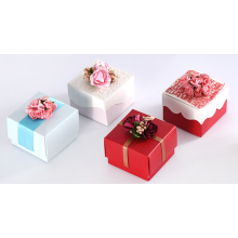 Customizable Candy Box Bröllop Favoriter Flowders Papperslådor